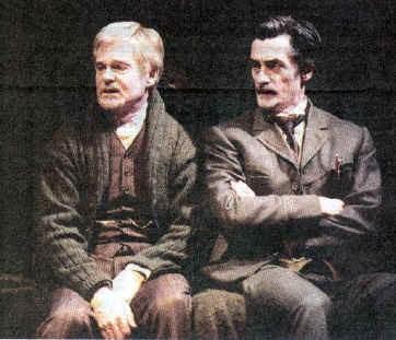 Derek Jacobi and Roger in UNCLE VANYA Broadway, 2000
